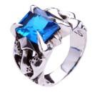 """Кольцо """"Blue Crystal"""" (серебро)"""