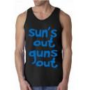 """Футболка """"SUN'S OUT GUNS OUT. Мачо и ботан"""""""