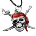 "Кулон ""Skull Red Scarf"""