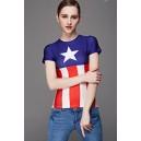 "Женская футболка ""Капитан Америка"""