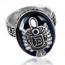Кольцо Дэймона D (шпинель, серебро)