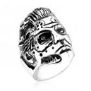 """Кольцо """"T800 Skull"""" (серебро)"""