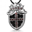 """Кулон """"Cross Shield"""" (серебро)"""