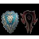 "Брошь ""Alliance vs.Horde. World of Warcraft"""