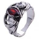 Кольцо Арагорна / Кольцо Барахира (серебро, красный корунд)