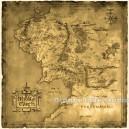 """Карта Средиземья """"Властелин Колец"""""""